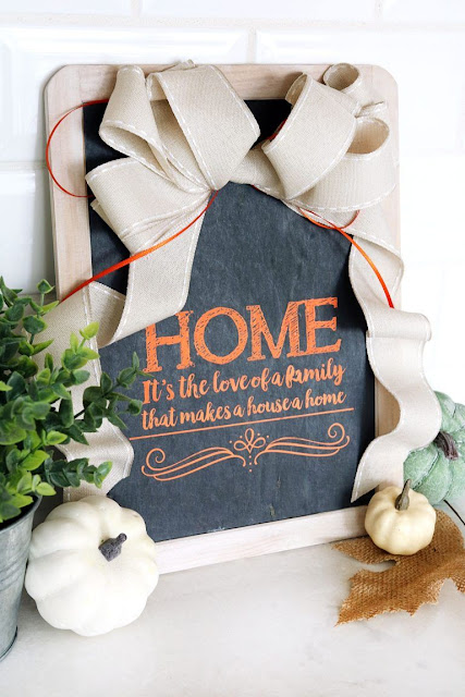 Home Decor Chalkboard Sign for Fall. Quick and Easy Craft!