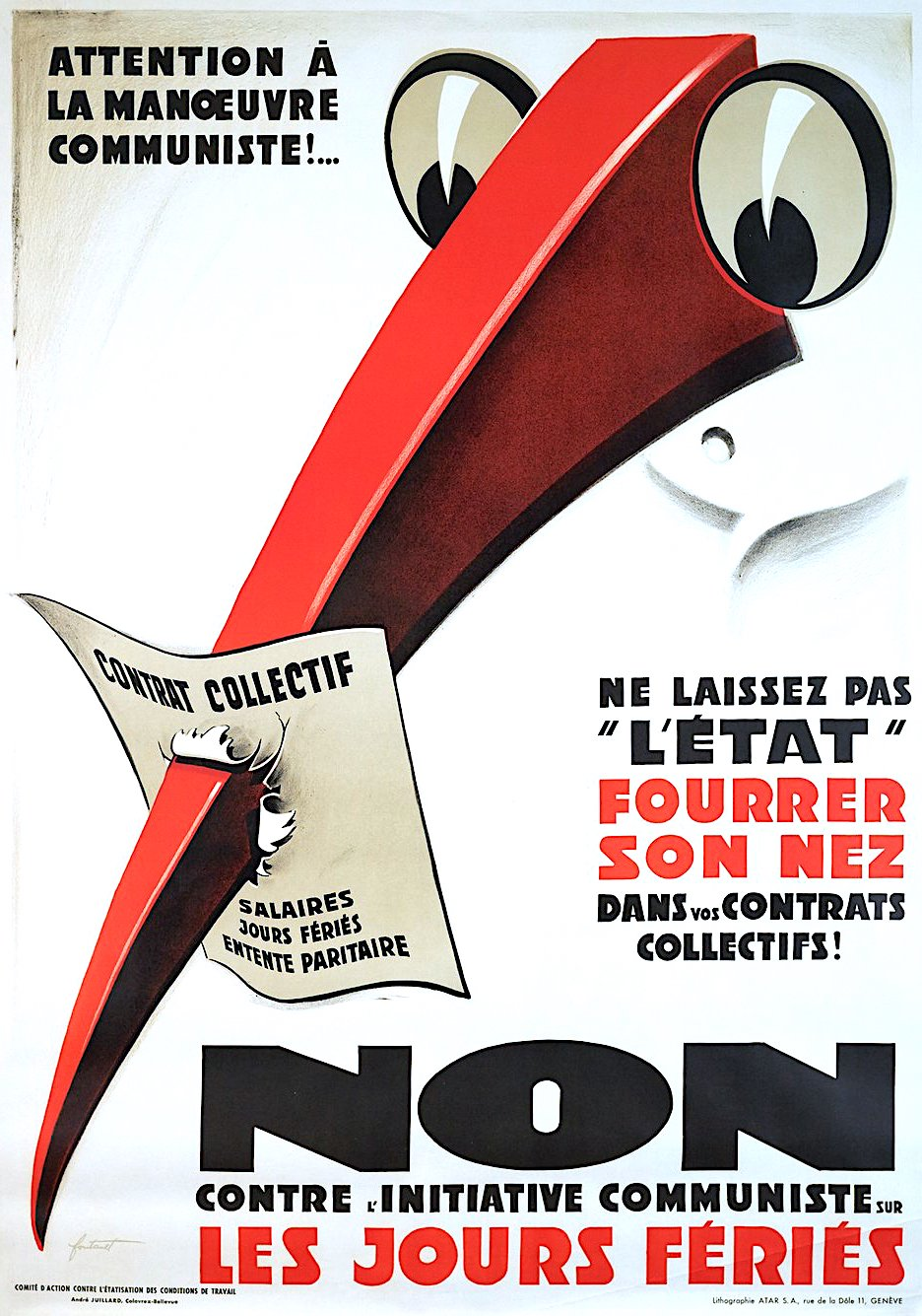 political poster by Noel Fontanet