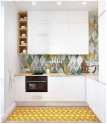 dapur minimalis ukuran 2x2 warna putih