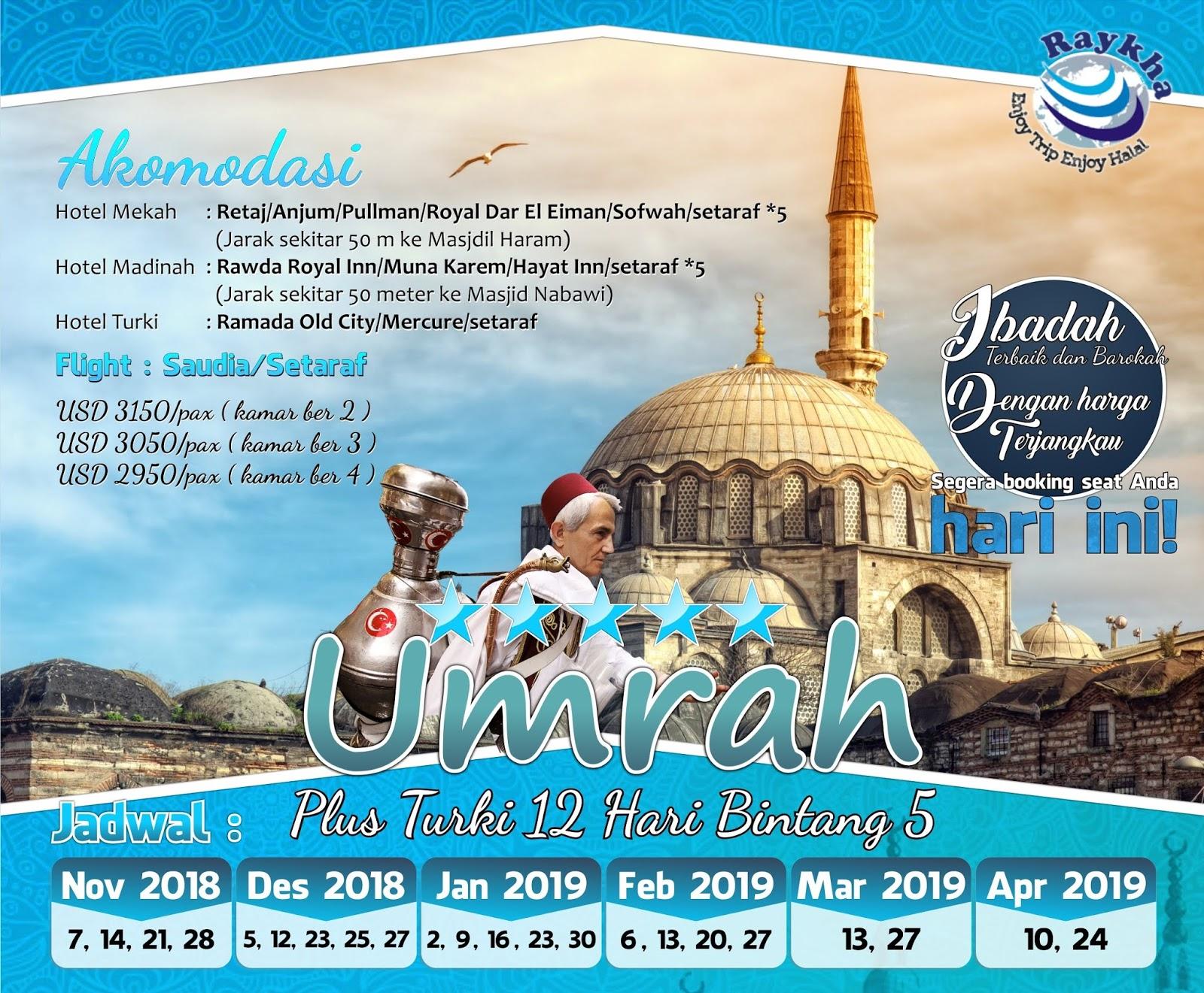 Banner Umroh Plus Turki Raykha Tour