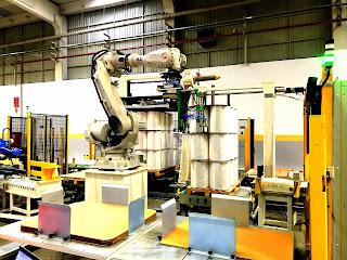 Jumbo Bobin Paletleme Robotu