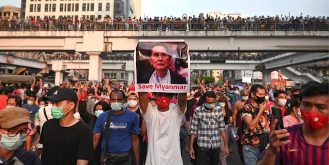 Setelah Blokir Media Sosial, Penguasa Militer Myanmar Kini Putus Akses Internet