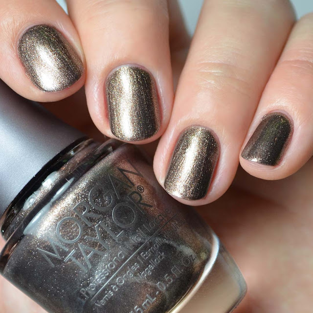 brown shimmer metallic nail polish