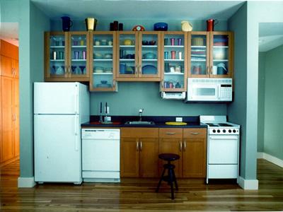 Ikea kitchen in Bald Head Island beach house