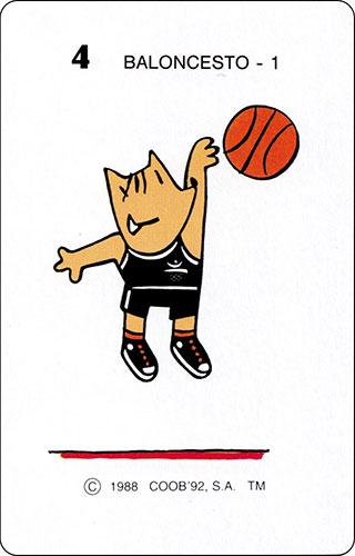 Baraja Cobi Heraclio Fournier Carta 4 Baloncesto 1