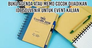 Buku Agenda atau Memo cocok dijadikan ide souvenir untuk event kalian
