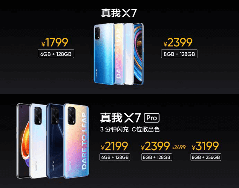 realme X7 series was previously launched in China