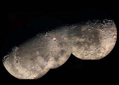 Луна мозаика изображений коллаж