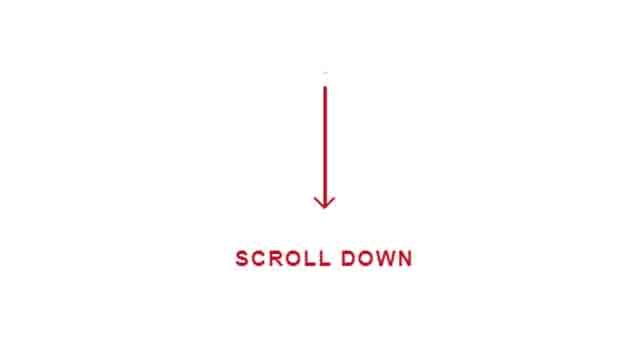 Scroll down Call to action animation