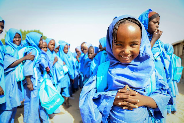 Five year-old Zarah Mohammed is thrilled about starting school for the first time.