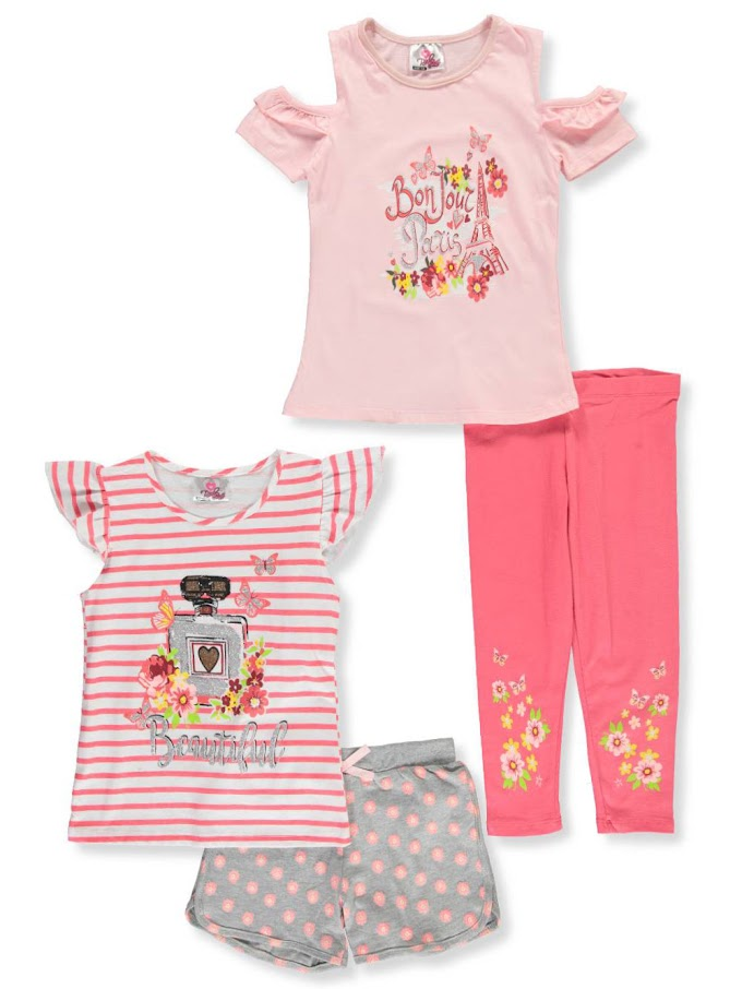 COOKIESKIDS - GIRLS' 4-PIECE MIX-AND-MATCH SET 9.99 to $12.99