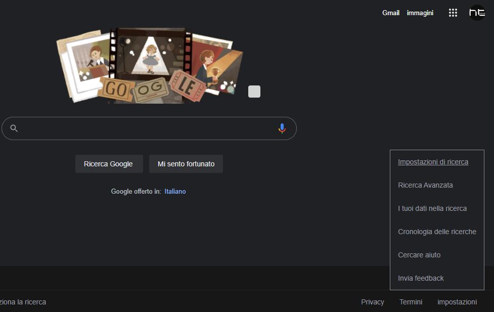 Come impostare il tema scuro in Ricerca Google