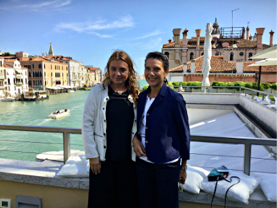 Francesca Lavazza and Karole Vail at Peggy Guggenheim: The Last Dogaressa - photo by Cat Bauer