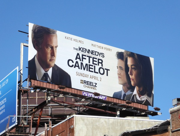 Kennedys After Camelot series launch billboard