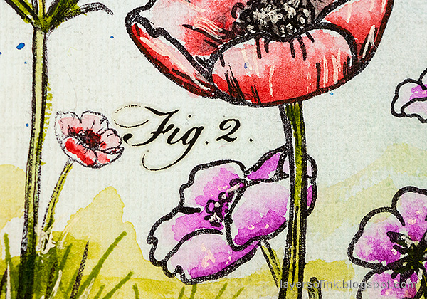 Layers of ink - Thoughtful Flowers Watercolor Garden Tutorial by Anna-Karin Evaldsson. Simon Says Stamp Thoughtful Flowers stamp set. Stamped and watercolored poppy-