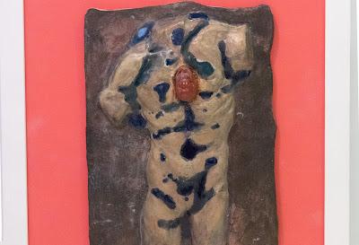 Exposed heart - man's torso - 59 x 52.5cm
