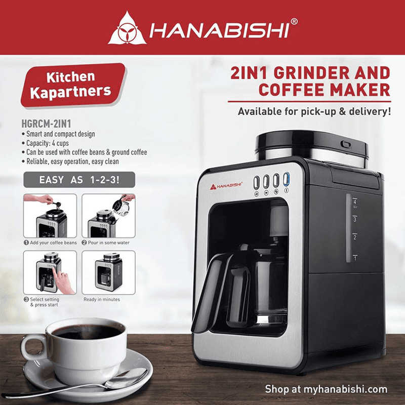 Features of the grinder and coffee maker