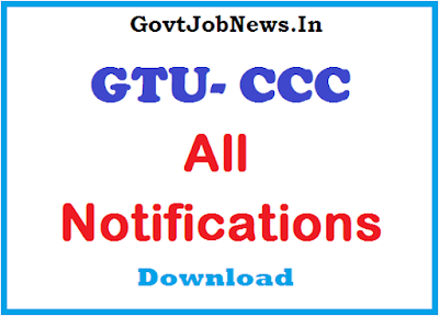 GTU CCC All Notifications In A One Link