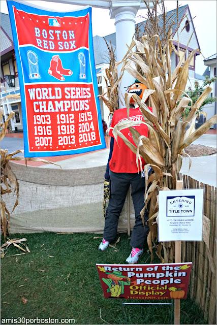 Red Sox en el Return of the Pumpkin People de Jackson en New Hampshire