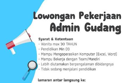 Lowongan Kerja Kupang Trend Centre (Admin Gudang)