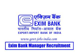 Exim Bank Manager Recruitment 2020