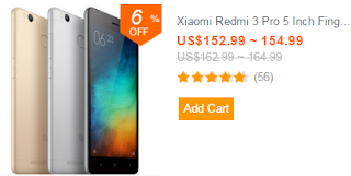 Xiaomi Redmi 3 Pro 5 Inch Fingerprint 3GB RAM 32GB ROM Snapdragon 616 Octa-core 4G Smartphone