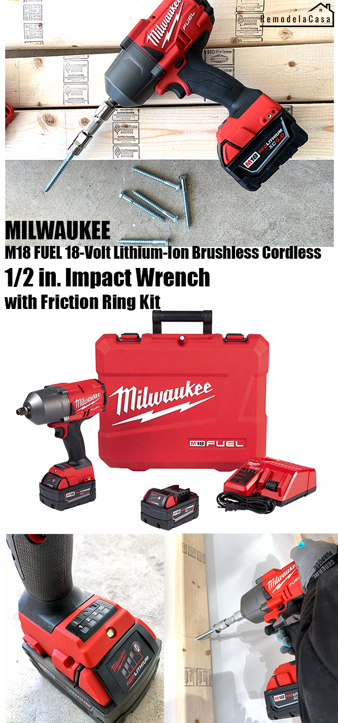 Milwaukee 1/2 in. Impact wrench with friction ring kit