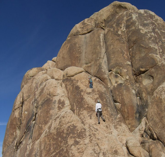 Climbing on Joshua Tree National Park