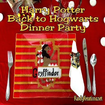 Having family dinners with a theme is a great way to create memories and teach the children manners! This Harry Potter themed dinner party is full of fun ideas and tutorials for back to school.  After all, if you have to go back to school, you might as well take the Hogwarts Express all the way to Hogwarts.