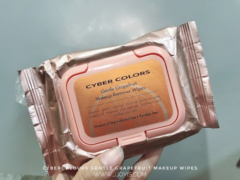 Review: Cybercolors makeup remover wipes