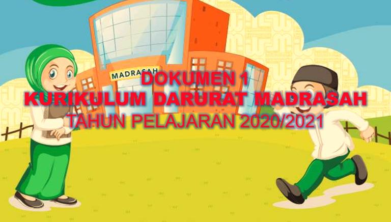 Contoh Dokumen 1 Kurikulum Darurat Madrasah Tahun Pelajaran 2020-2021