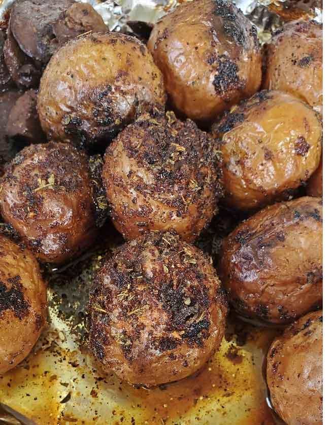 grilled salt potatoes