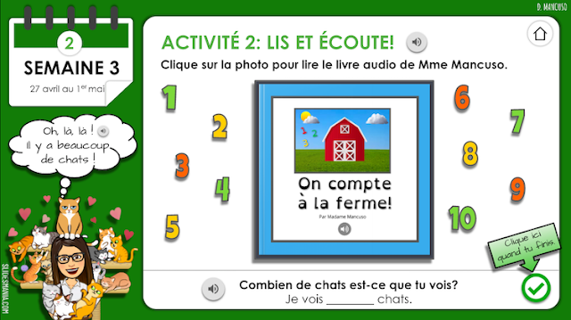 Interactive French Activities for Distance Learning Using Google Slides, Book Creator and audio clips