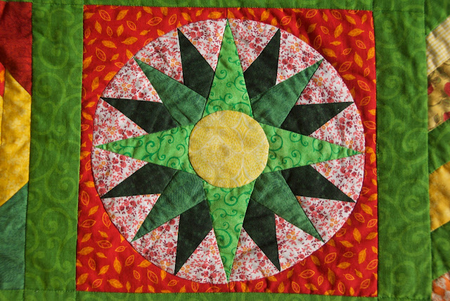 The Sunny Sampler - mariner's compass block