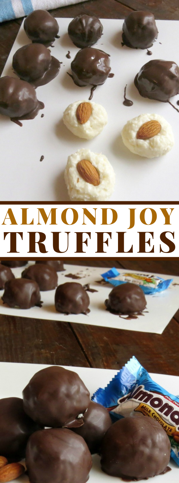 ALMOND JOY TRUFFLES RECIPE #chocolate #candy
