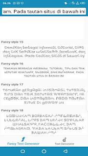 2 Cara Membuat Tulisan Keren Di Bio Instagram Dengan Font Unik