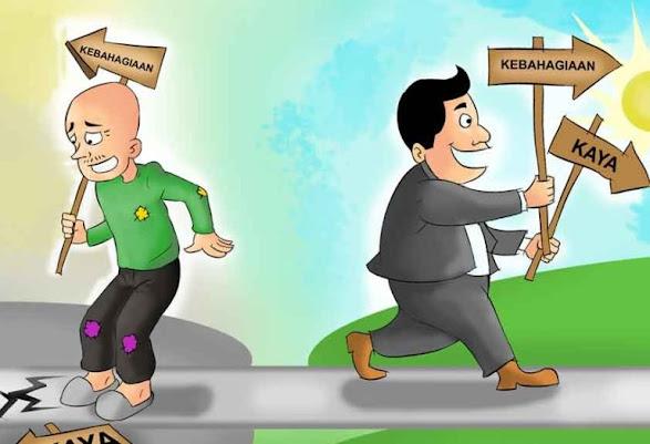 Miskin, Kaya dan Kecukupan
