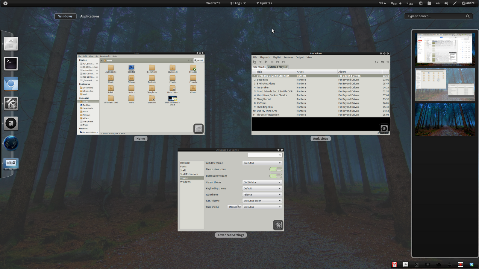 Executive: Beautiful Theme Pack With Matching GNOME Shell