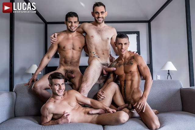 LucasEntertainment - MAX ARION, ALLEN KING, RICO MARLON, MAX AVILA | FOUR-WAY BREEDING