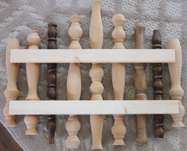 A DIY Wood Spindle Pumpkin Wall Hanging From Itsy Bits And Pieces Blog
