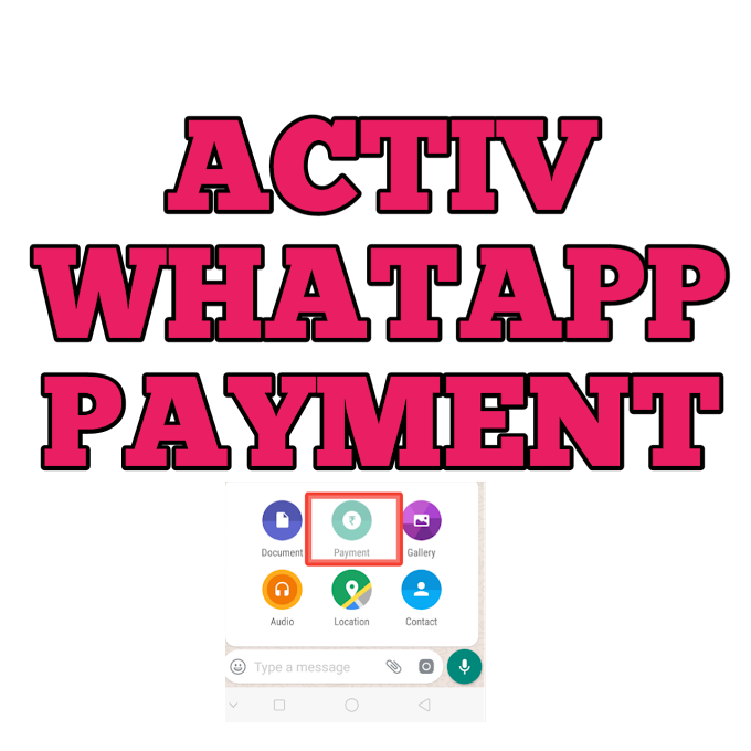 how to active whatsapp payment