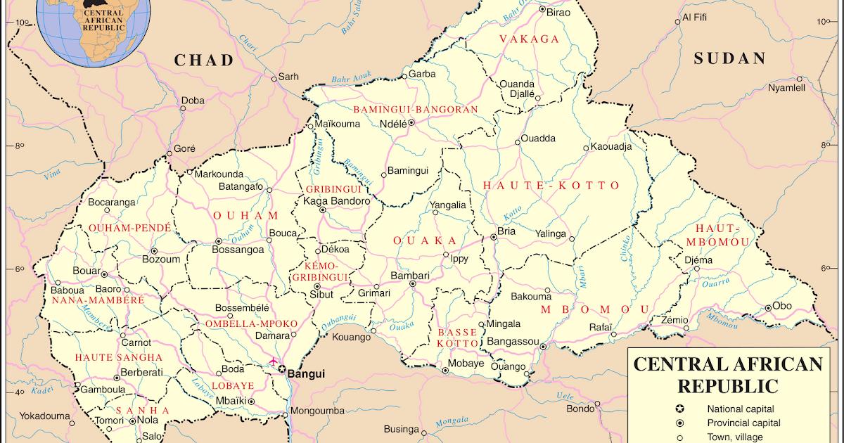 kaart midden afrika