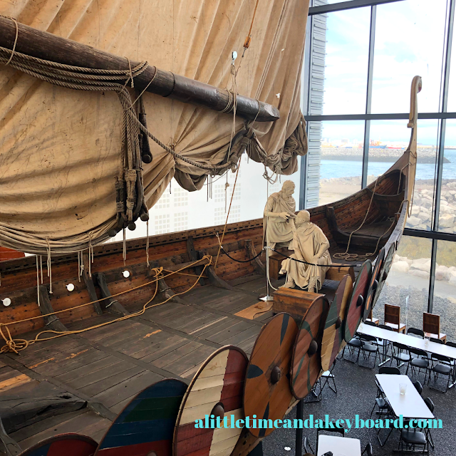 Visitors can climb aboard the Viking ship Icelander at Viking World in Keflavik, Iceland.