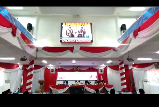 DPRD Batanghari Gelar Rapat Paripurna Dalam Rangka Mendengarkan Pidato Kenegaraan Ulang Tahun RI KE-75