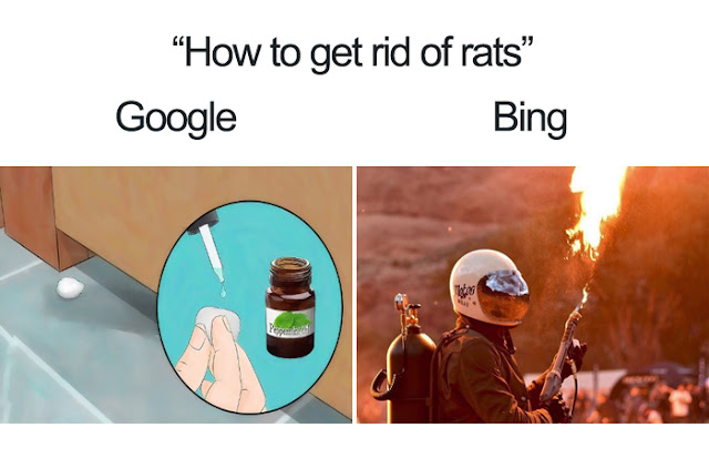 meme goole vs bing