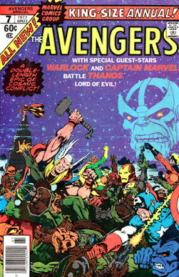 Avengers King-Size Annual #7, Thanos and Captain Marvel