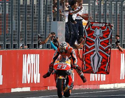 Marquez Akui Kabur Hindari Duel dengan Rossi di Jepang