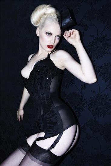 luxury corsetiere kunza burlesque collection suspender corset girdle made in london