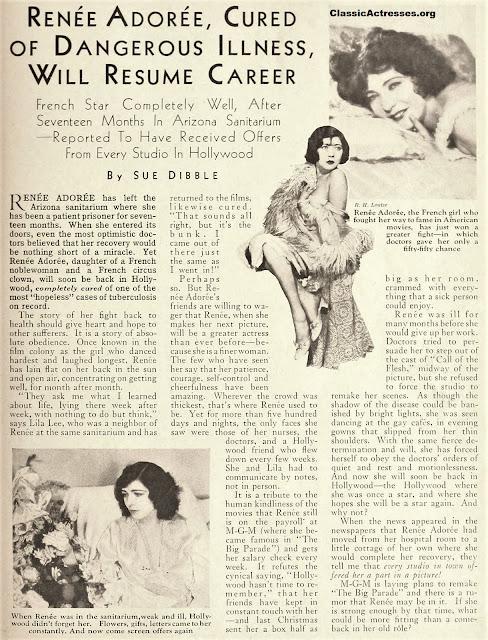 Renee Adoree 1932 Article