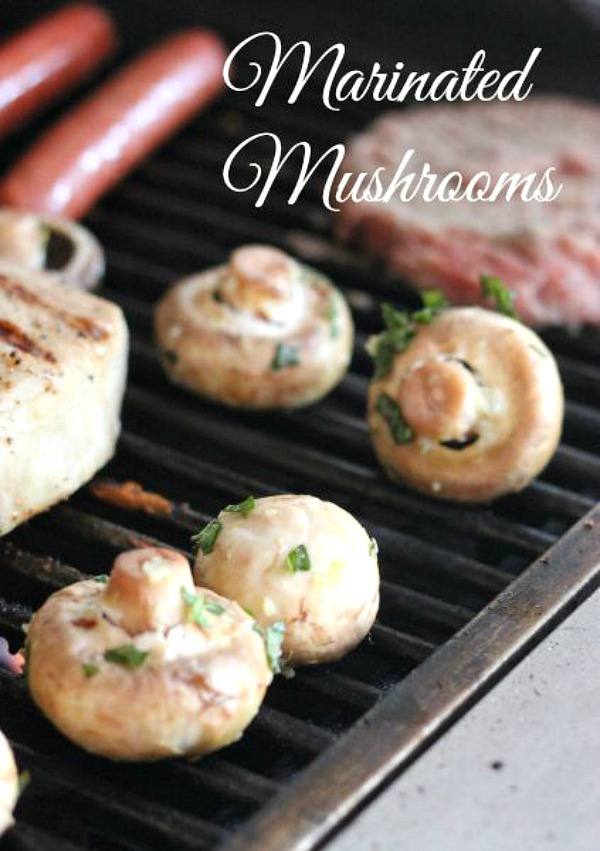 Marinated Mushrooms on the Grill from Clever Housewife